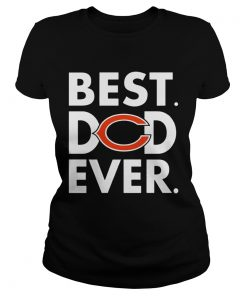 Best Dad Ever Chicago Bears Fathers Day ladies tee