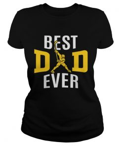 Best Dad Ever Papa Hockey  Classic Ladies
