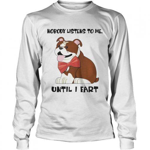 Bulldog Funny longsleeve tee