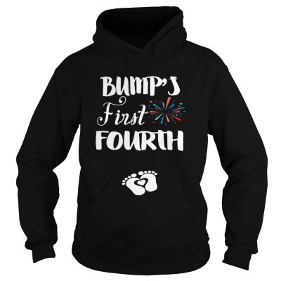 Bumps first fourth pregnant lady hoodie
