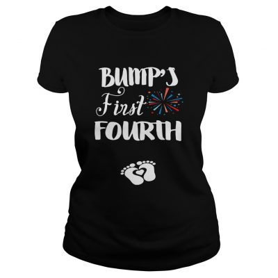 Bumps first fourth pregnant lady ladies tee