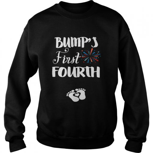 Bumps first fourth pregnant lady sweatshirt
