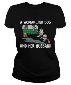 Camping a woman her dog and her husband  Classic Ladies