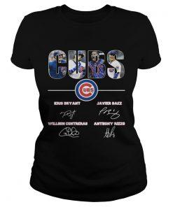 Chicago Cubs Kris Bryant Javier Baez Willson Contreras Anthony Rizzo ladies tee