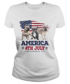 Cool French Bulldog America 4th July Independence Day T Classic Ladies