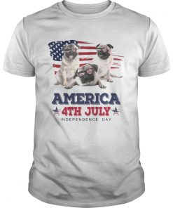 Cool Pug America 4th July Independence Day T Unisex