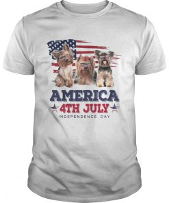 Cool Yorkshire Terrier America 4th July Independence Day T Unisex