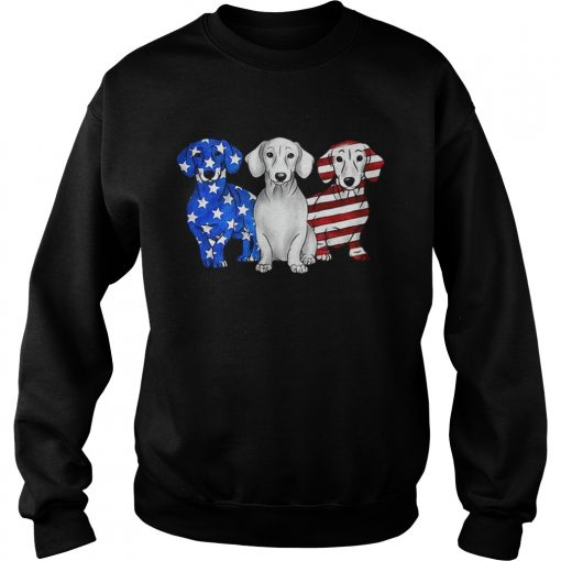 Dachshund American flag sweatshirt
