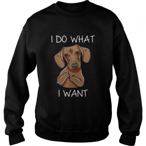 Dachshund I do what I want sweatshirt