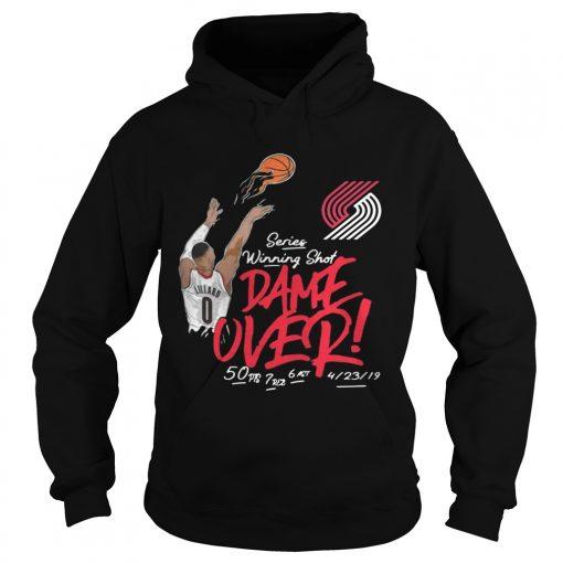 Damian Lillard Portland Trail Blazers series winning shot dame over hoodie
