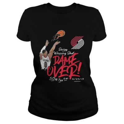 Damian Lillard Portland Trail Blazers series winning shot dame over ladies tee