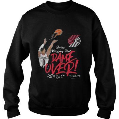 Damian Lillard Portland Trail Blazers series winning shot dame over sweatshirt