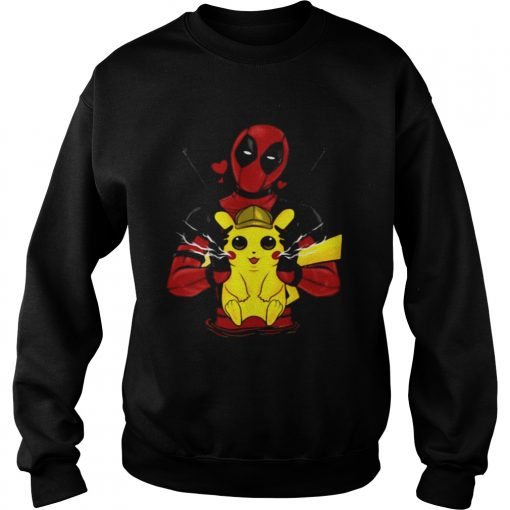 Deadpool hugging detective Pikachu sweatshirt