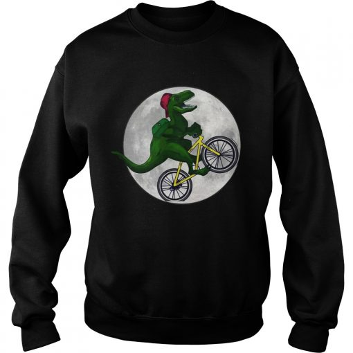 Dinosaurs Ride Bicycles On The Moon Sweatshirt