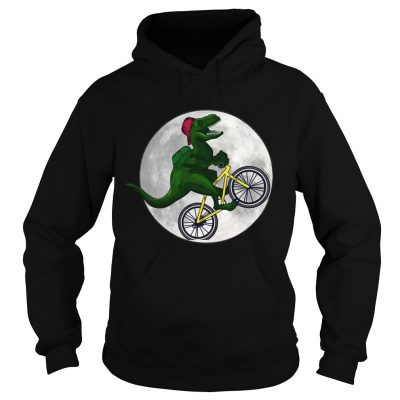 Dinosaurs Ride Bicycles On The Moon hoodie