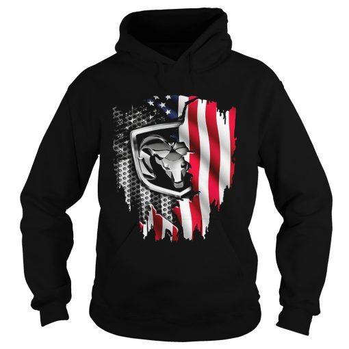 Dodge Ram American flag hoodie
