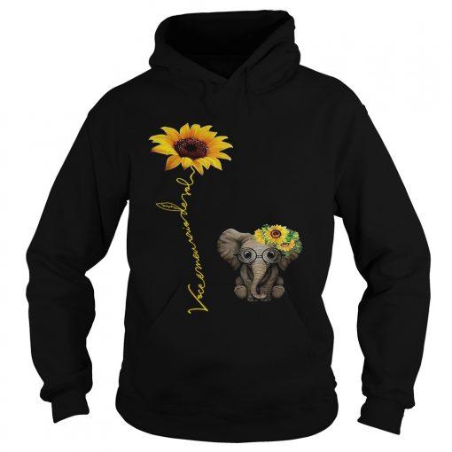 Elefanta girassol vocmeu raio de sol camisa hoodie