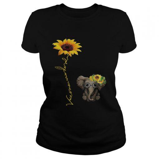 Elefanta girassol vocmeu raio de sol camisa ladies tee