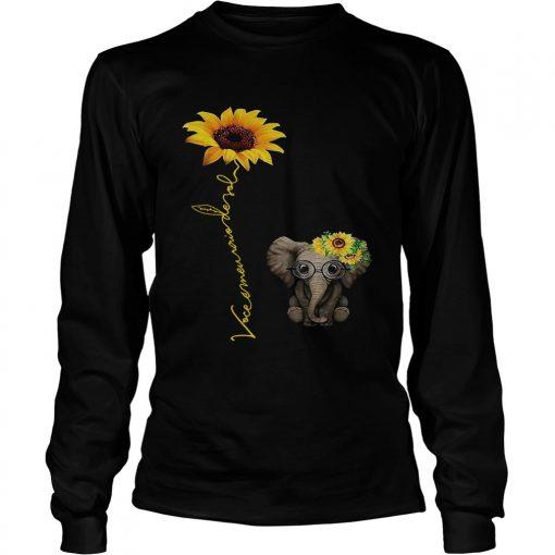 Elefanta girassol vocmeu raio de sol camisa longsleeve tee