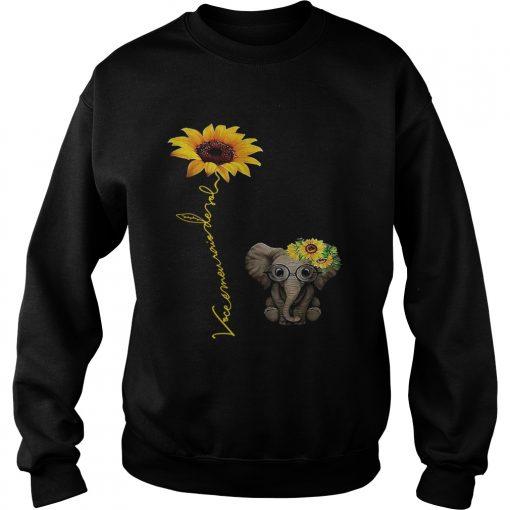 Elefanta girassol vocmeu raio de sol camisa sweatshirt
