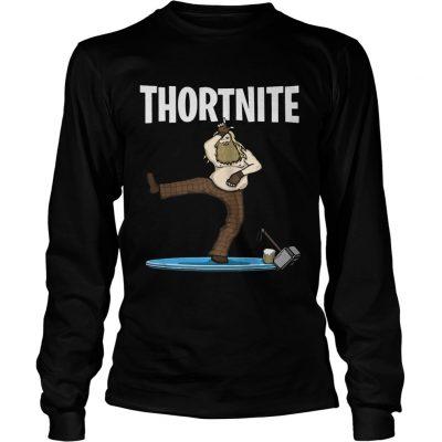 Fat Thor Thortnite Fortnite longsleeve tee