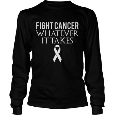 Fight cancer whatever it takes longsleeve tee