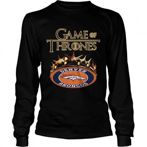 Game of Thrones Denver Broncos mashup longsleeve tee