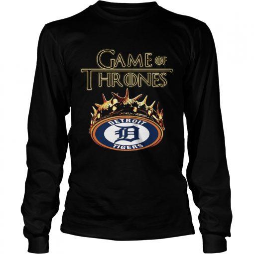 Game of Thrones Detroit Tigers mashup longsleeve tee