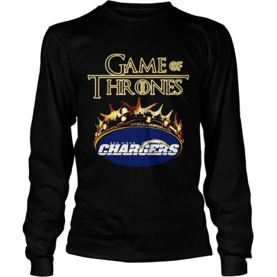 Game of Thrones Los Angeles Chargers mashup longsleeve tee