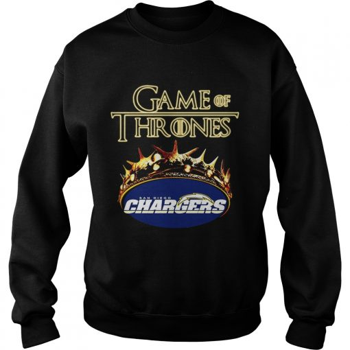 Game of Thrones Los Angeles Chargers mashup sweatshirt
