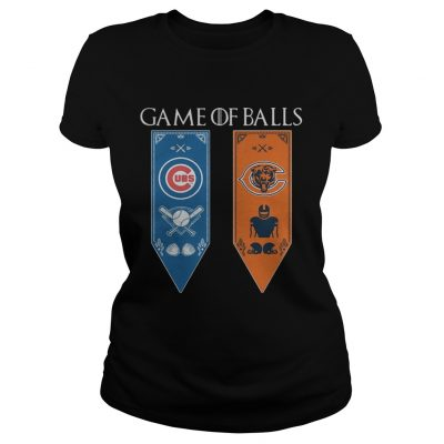 Game of Thrones game of balls Chicago Cubs and Chicago Bears ladies tee