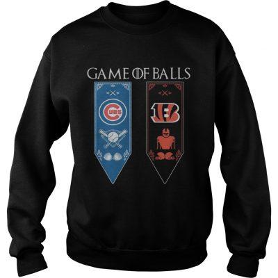 Game of Thrones game of balls Chicago Cubs and Cincinnati Bengals sweatshirt