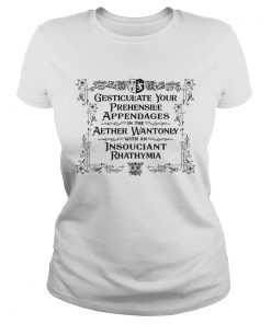 Gesticulate Your Prehensile Appendages In The Aether Wantonly With An Insouciant Rhathymia ladies tee