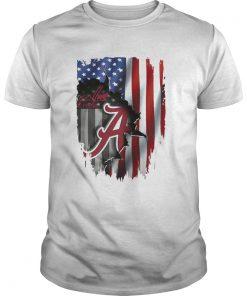 Guys Alabama Crimson Tide flag America shirt
