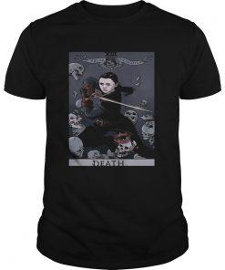 Guys Arya Stark Tarot Card Death Valar Morghulis Shirt