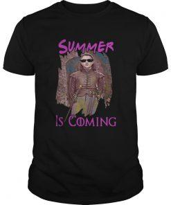 Guys Arya Stark summer is coming Game of Thrones shirt