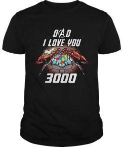 Guys Avengers Dad i love you 3000 Iron Man Autism Awareness shirt