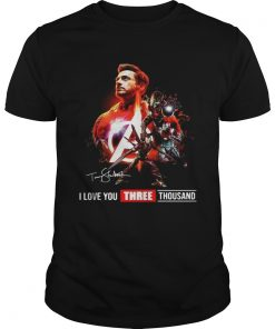 Guys Avengers Endgame Tony Stark I Love you three Thousand shirt