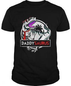 Guys Daddy Saurus Glasses Shirt