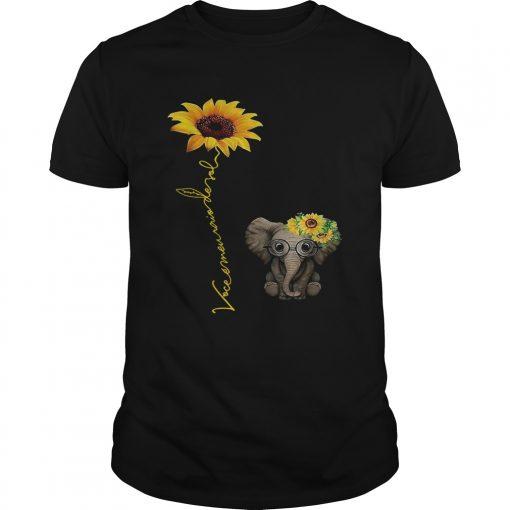 Guys Elefanta girassol vocmeu raio de sol camisa