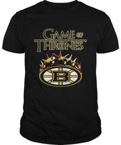 Guys Game of Thrones Crown Boston Bruins shirt