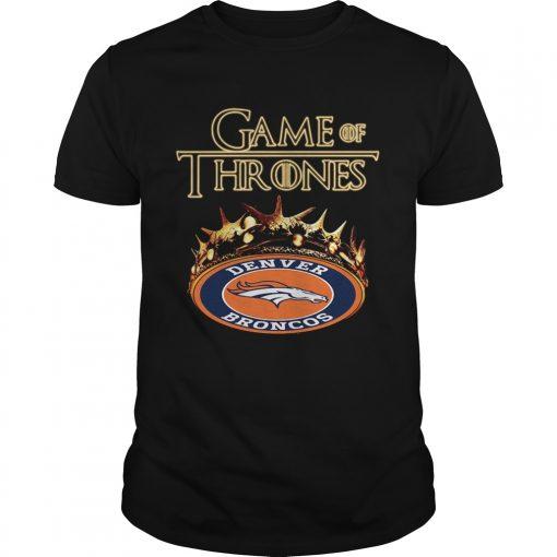Guys Game of Thrones Denver Broncos mashup shirt