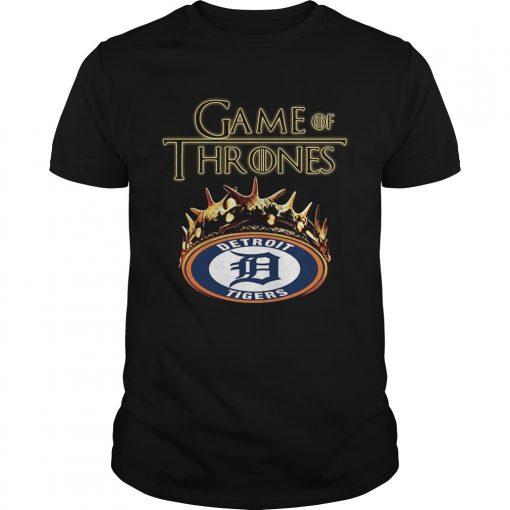 Guys Game of Thrones Detroit Tigers mashup shirt