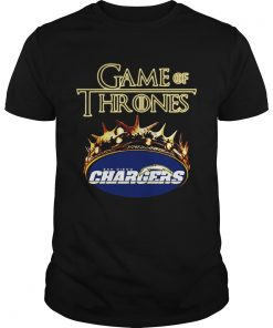 Guys Game of Thrones Los Angeles Chargers mashup shirt