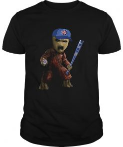 Guys Groot I Am Chicago Cubs Shirt