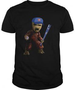 Guys Groot I Am Chicago Cubs Shirt