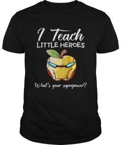 Guys I Teach Little Heroes Iron Man Tshirt
