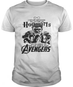 Guys I never received my letter to Hogwarts so Im going to save the world with Avengers shirt