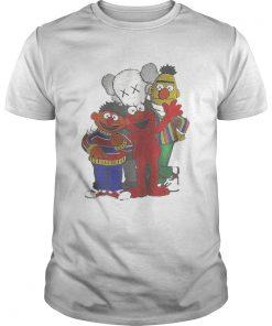 Guys Kaws X Sesame Street family shirt