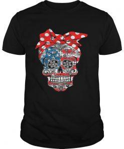 Guys Lady Christian sugar skulls shirt
